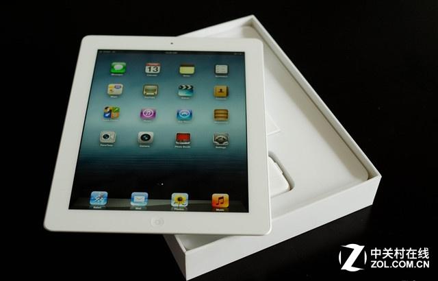 iPad 3白色 正面图